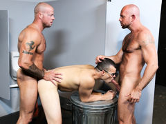 Sean's useful companion Matt has asked him for a big most like to surprise his BF Jason at the club. Matt and Sean come up with the idea of Sean waiting in the bathroom playing with his cock near the glory hole at the club Sean dances at. Matt's BF Jason