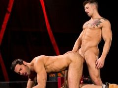 Sebastian Kross is a living anatomy lesson with his smooth and incredibly defined musculature. Dario Beck is in a daze of ecstasy while he sucks Sebas