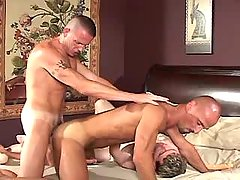 Lusty mature gay fucks tight males hole