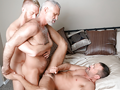 3 men from different decades hook up in a tasty three way