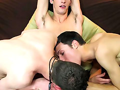 Three straight boys get nasty for cash