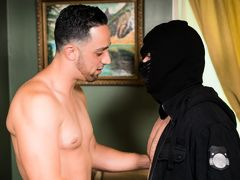 Sexy direct Italian Andrew Fitch issues a beat down to young burglar Doug Acre and then hate fucks the bubble butt blonde giving him a dirty stallion on stallion hard banging. This boy aggressively slams his ass to an explosive orgasm. Teaching young Doug