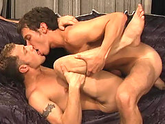 Two studs having cockring blowjob and good anal penetration
