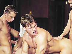 Orgy! Studs Loving Exchanging Tongues & Ramrods In Their Holes