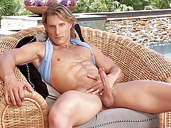 Anthony enjoys playing with his butt and penis in solo scene!