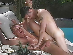 two sex-crazed men giving intense pleasure to one another