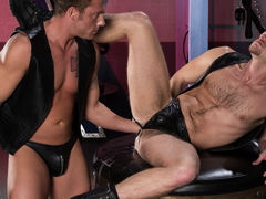 Brian Bonds goes to Dr. Strangeglove's office with his boyfriend Preston Johnson for a session to get assist with his 'O.F.D. - Keen Fisting Disorder'. As part of Brian's therapy, the doctor puts 'em in a dungeon and curves 'em loose. Brian is 1st t