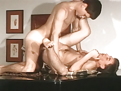 Young men go at it fast & hard then spew multiple big loads