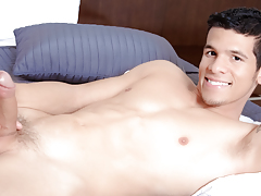 Lee strips & teases you, shows off his hard abs & thick cock