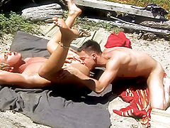 Fellow moaning with pleasure as he receives his ass rammed by cock!