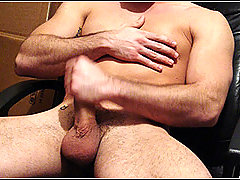Straight muscle boy strokes his cock