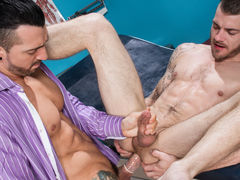 Sexy patient Tryp Bates is visiting Doctor Jimmy Durano about not being able to take his man's huge cock. Doctor Durano is more than appreciated to aid Tryp out. Subsequently examining Tryp's fissure with a few fingers, Doctor Durano idly widens Tryp's a-