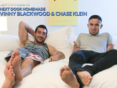 This tape comes to us from a imposing and horny dude named Vinny Blackwood.  Vinny recently has been hooking up with a very sexy guy named Chase Klein, whom he met through a good friend and long-time bartender at his favorite, hometown watering hole. Appa